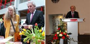 Oberbürgermeister Jürgen Roters mit Dr. Marita Alami beim Markt der Möglichkeiten und bei der Begrüßung am Internationalen Frauentag im Rathaus