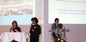 Eva Pohl, Christine Kronenberg und Bloggerin Anna-Sarah Hennig am Internationalen Frauentag im Kölner Rathaus