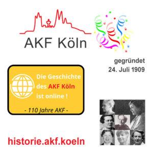 110 Jahre AKF Köln !! Die Geschichte ist online!